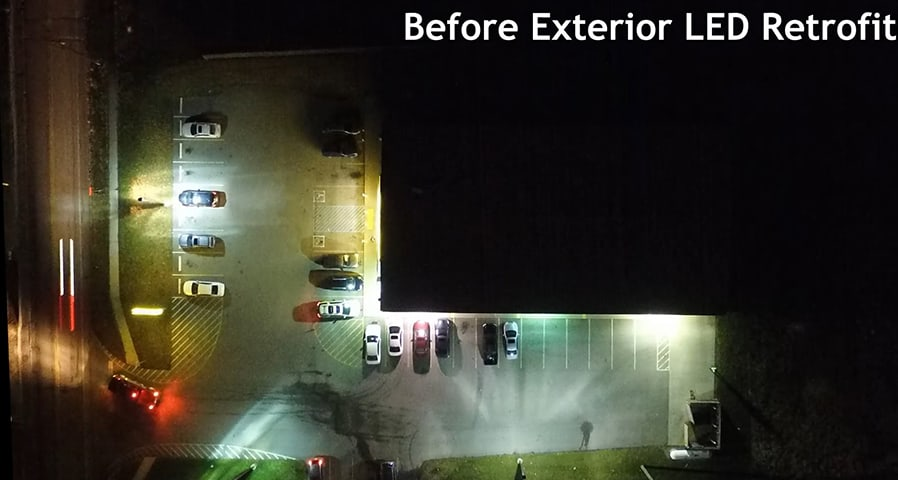 A Before and After Comparison of an LED Parking Lot Retrofit - Where Illumination and Safety Go Hand-in-hand