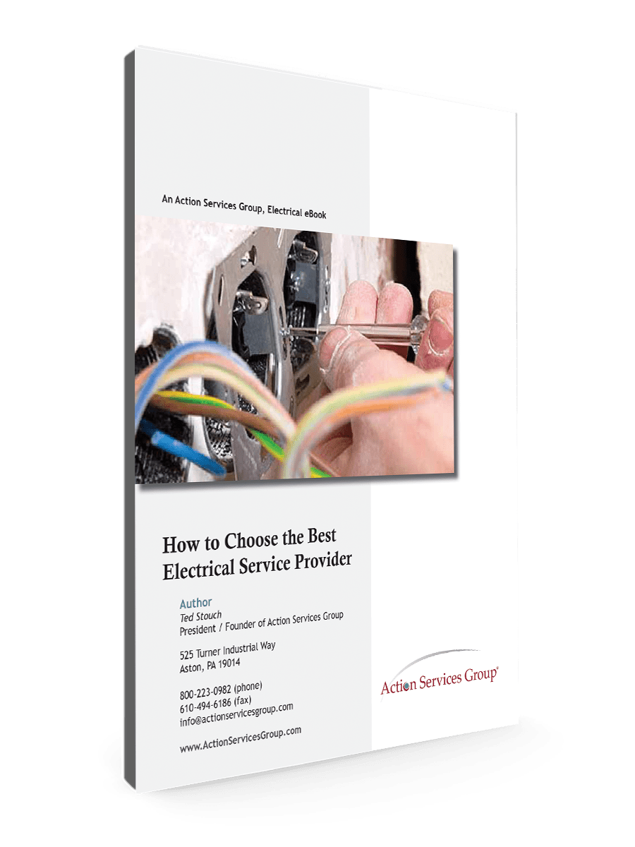 Standing eBook Cover - Action Services Group How to Choose the Best Electrical Service Provider