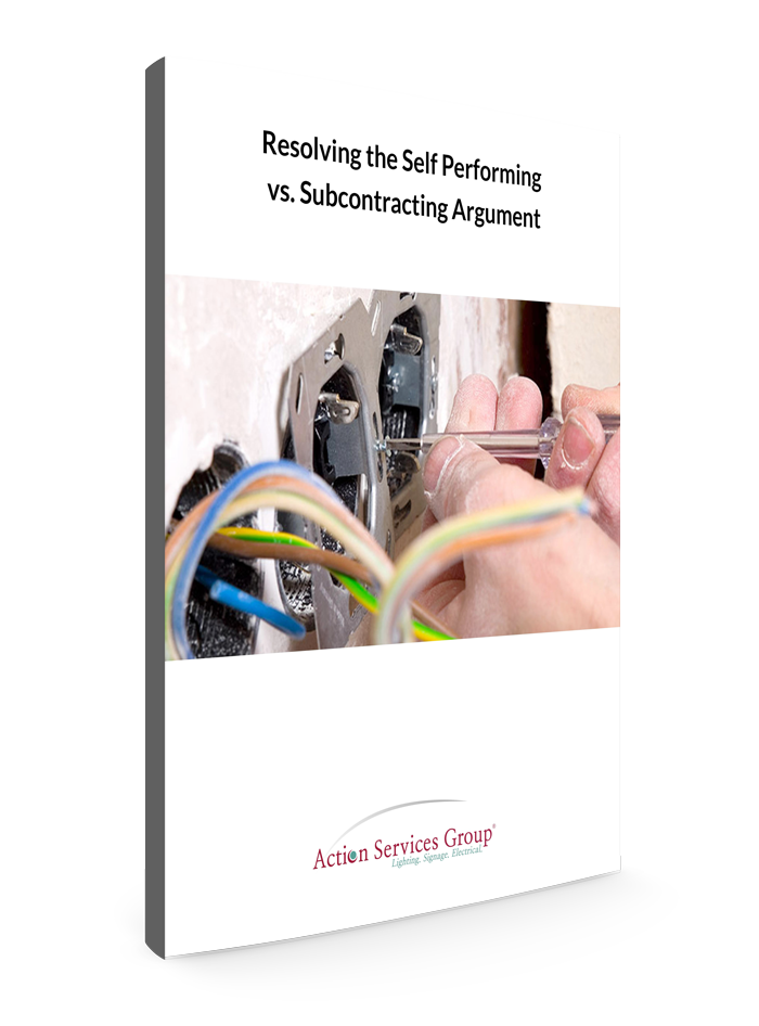 Standing eBook Cover - Action Services Group Resolving the Self Performing vs. Subcontracting Argument