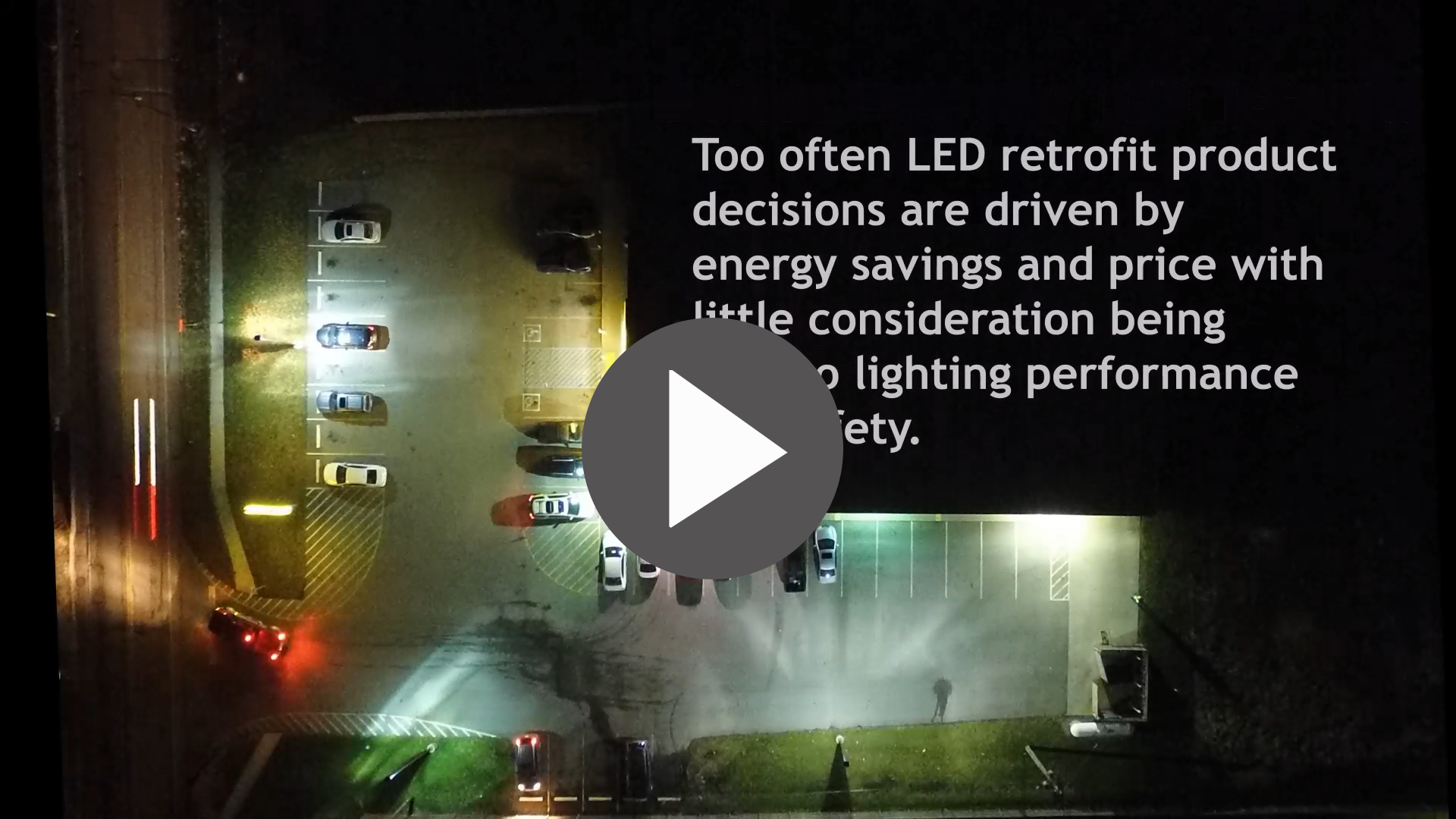 A Before and After Comparison of a LED Parking Lot Retrofit - Video Blog - Action Services Group
