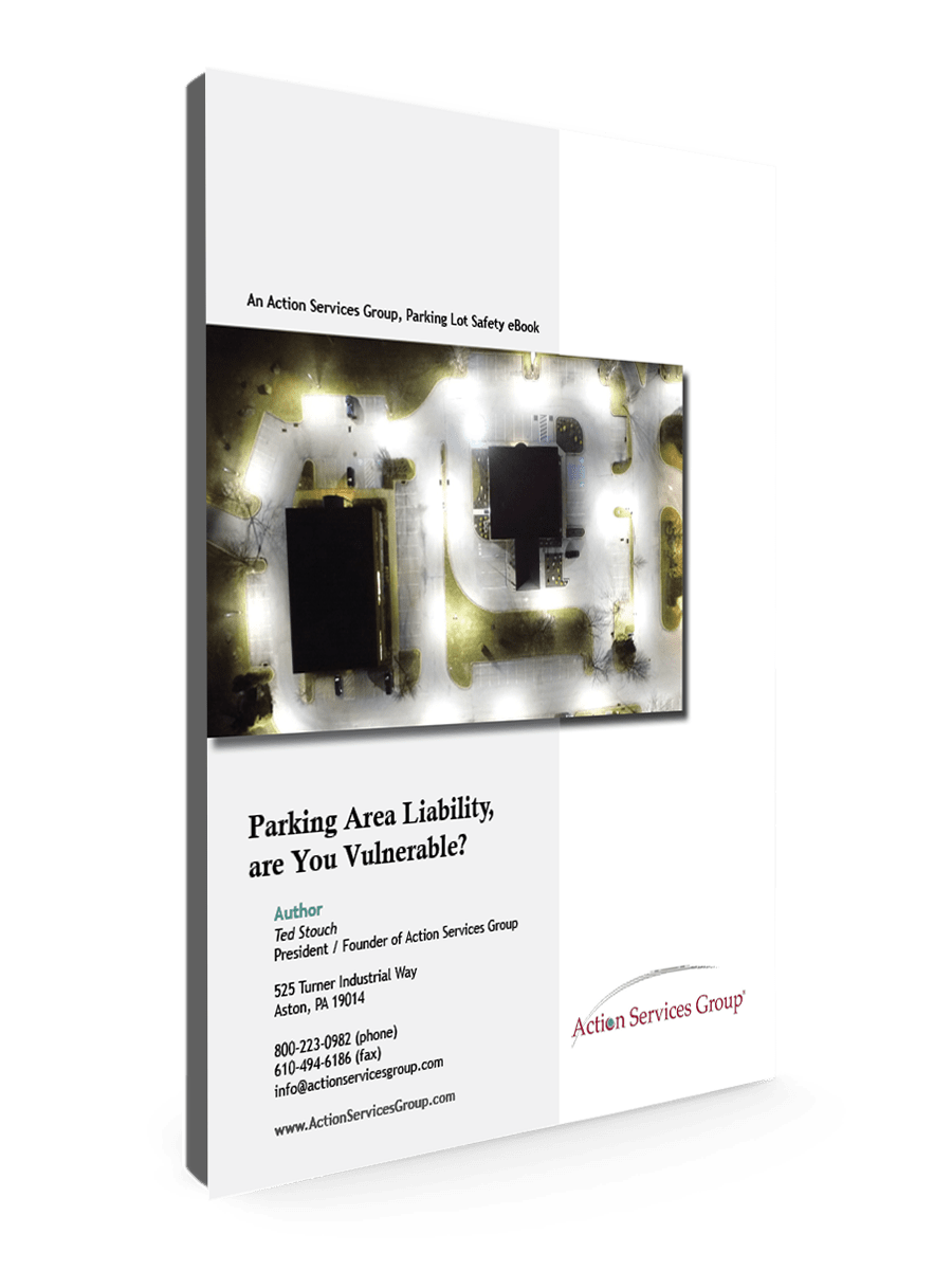 Standing eBook Cover - Action Services Group Parking Area Liability, are You Vulnerable