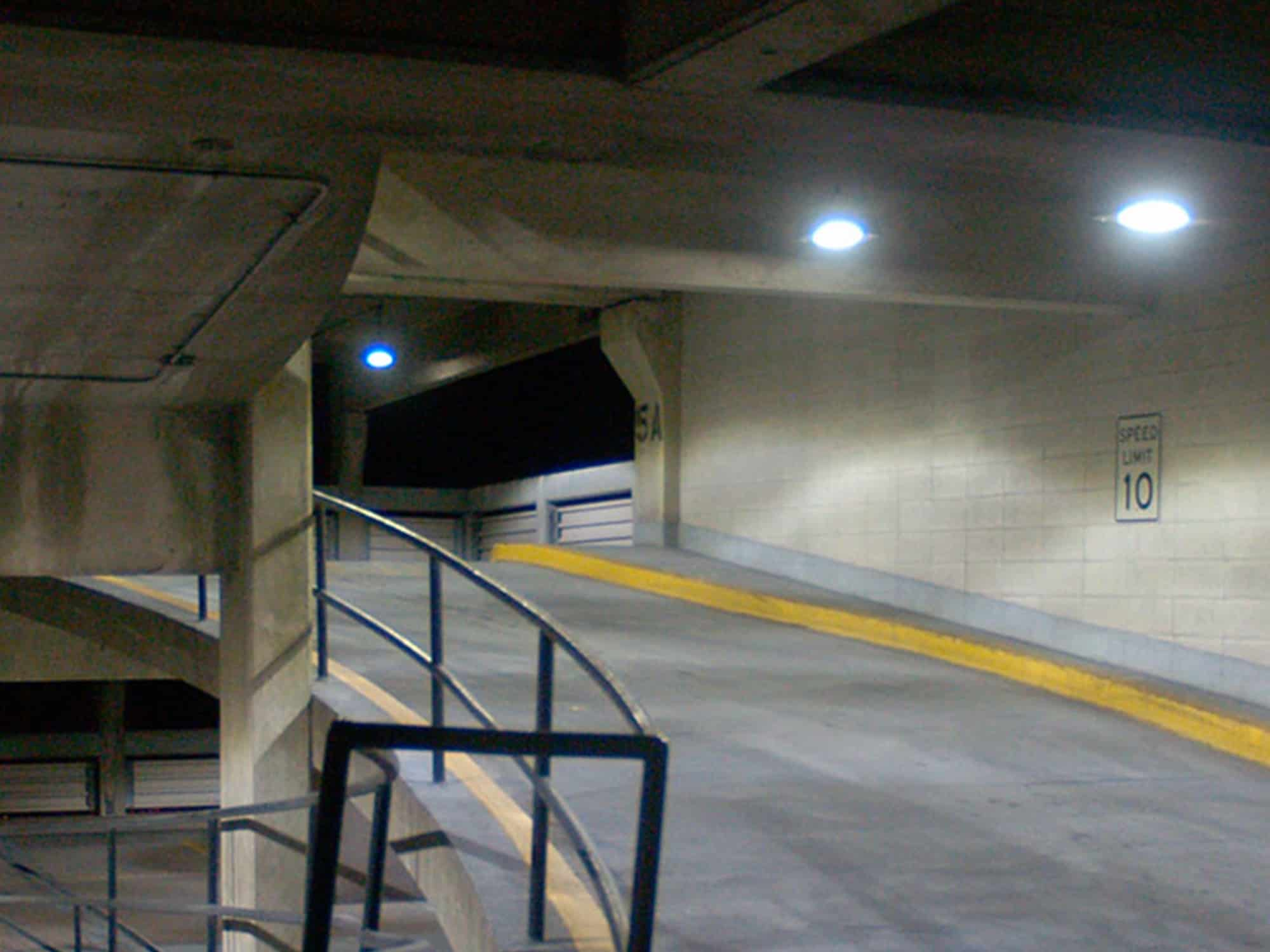 Bank Parking Garage LED Retrofit Case Study