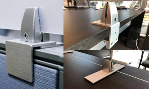 Obex Cubicle Wall and Panel Extender Hardware and Brackets